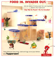 Tupperware facebook Application Food invader out