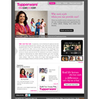 Tupperware Facebook campaign she can you can