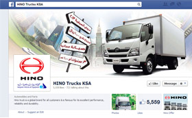 Hino trucks KSA Saudi on Facebook