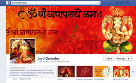 Worship Lord Ganesha on facebook
