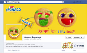 Monaco crispy light salty snack on  Facebook