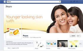 Younger looking skin Pears facebook page