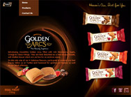 Introducing irresistible Golden Arcs, filled with rich Strawberry, Apple, Orange & Choco Fillings